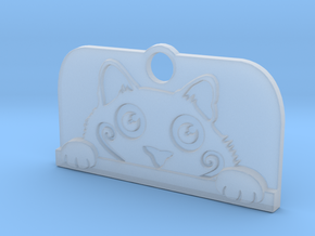 Voyeur Cat Pendant - Small in Smooth Fine Detail Plastic