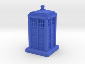 N Gauge - Police Box  in Blue Processed Versatile Plastic
