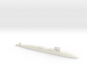 FS Le Triomphant SSBN, 1/1800 in White Natural Versatile Plastic