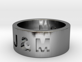 Freunschaftsring J & M in Polished Silver