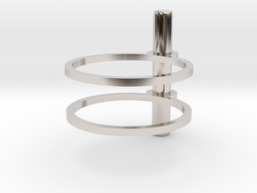 Cerc - Size 5 US in Rhodium Plated Brass