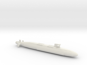 FS Le Triomphant SSBN, Full Hull, 1/1800 in White Natural Versatile Plastic