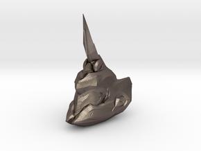 Fotus helmet 1/6 scale in Polished Bronzed Silver Steel