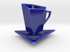 Espresso Cup in Gloss Cobalt Blue Porcelain