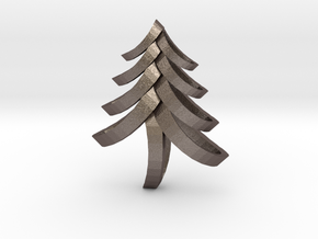 Fancy Tree in Polished Bronzed Silver Steel