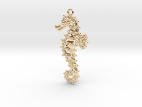 Sea Horse in 14k Gold Plated Brass