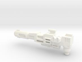 Transformers Thunderclash gun. in White Strong & Flexible Polished