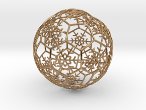 iFTBL Xmas Snow Ball / The One - Ornament 60mm in Polished Brass