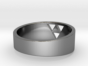 """Triforce Ring - 8"""" in Fine Detail Polished Silver"""