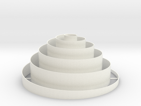 Large Sisyphus marble track in White Processed Versatile Plastic