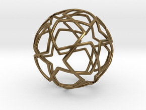 iFTBL Ornament / Star Ball - 40 mm in Polished Bronze