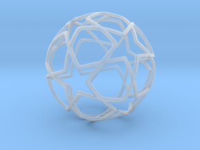 iFTBL Ornament / Star Ball - 40 mm in Smooth Fine Detail Plastic