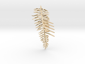 Sword Fern Comb in 14k Gold Plated Brass