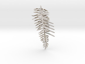Sword Fern Comb in Rhodium Plated Brass