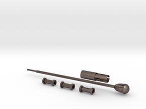 NewYorkGun Heater Tube A in Polished Bronzed Silver Steel