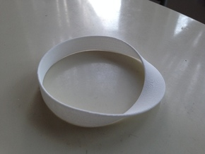 Möbius Bracelet Bangle in White Natural Versatile Plastic