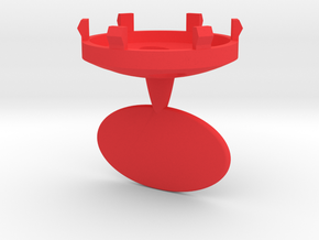 DRAW ornament - finial replacement plug personaliz in Red Processed Versatile Plastic