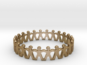 Friendship Ring in Polished Gold Steel
