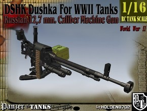 1-16 DSHK Dushka For WWII Tanks in Smooth Fine Detail Plastic