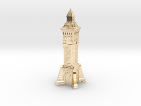 N Gauge Victorian Clock Tower in 14k Gold Plated Brass