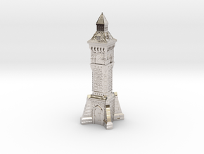 N Gauge Victorian Clock Tower in Rhodium Plated Brass