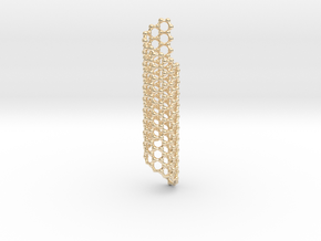 Nano Carbon Christmas Ornament in 14k Gold Plated Brass