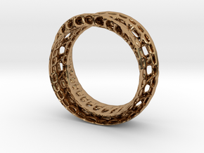 Twistedbond ring 21.2mm in Polished Brass