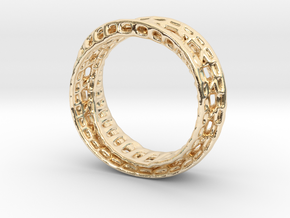 Twisted Bond Ring 18,5mm in 14K Yellow Gold