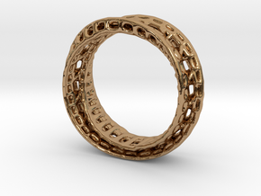 Twisted Bond Ring 18,5mm in Polished Brass
