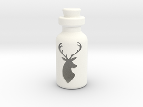 Small Bottle (deer Head) in White Processed Versatile Plastic