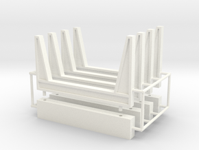 1/87th Staging log bunks in White Processed Versatile Plastic