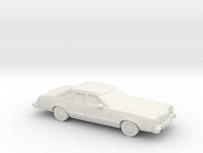 1/87 1977-79 Ford LTD II Brougham Sedan in White Natural Versatile Plastic