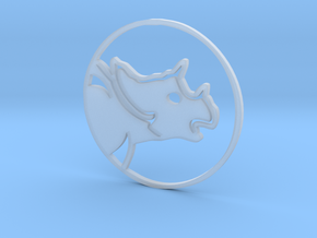 Triceratops Coin in Smooth Fine Detail Plastic