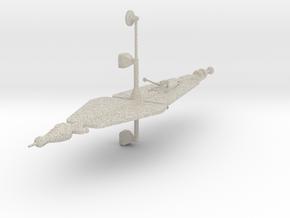 Ion Spaceship in Natural Sandstone