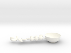 Fruit Bowl  in White Processed Versatile Plastic