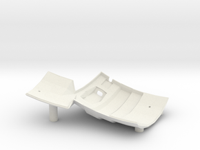 Dactyl Keyboard - Right Bottom in White Natural Versatile Plastic