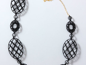 Faceted Ovals Necklace in White Natural Versatile Plastic