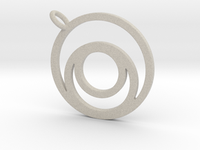 Nested Circles Pendant in Natural Sandstone