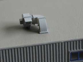 N Scale 2x Rooftop Fan #2 in Smooth Fine Detail Plastic