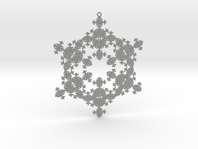 Snowflake Fractal 1 Customizable in Metallic Plastic