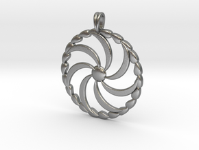 Borjgali Sun Tree Jewelry symbol Pendant. in Natural Silver