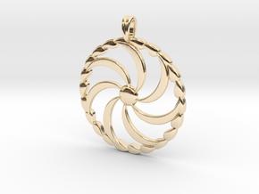 Borjgali Sun Tree Jewelry symbol Pendant. in 14k Gold Plated Brass