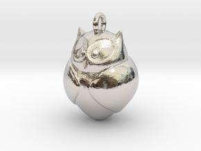 Owl Pendant in Platinum