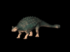 Jurassic World Dinosaurs Ankylosaurus Model A.01 in White Processed Versatile Plastic
