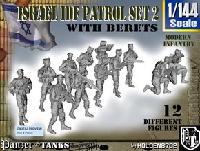 1-144 IDF BERET PATROL SET 2 in Frosted Ultra Detail