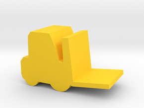 Game Piece, Forklift in Yellow Processed Versatile Plastic