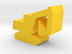 Game Piece, Excavator in Yellow Processed Versatile Plastic