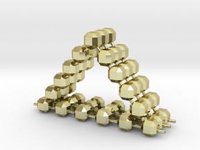 Triangulum in 18k Gold Plated Brass