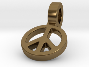 World Peace in Polished Bronze