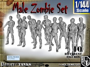1-144 Male Zombie Set in Frosted Ultra Detail